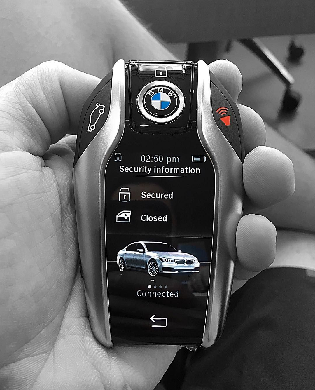 keys feature bmw key and series model auto parking s tesla fob