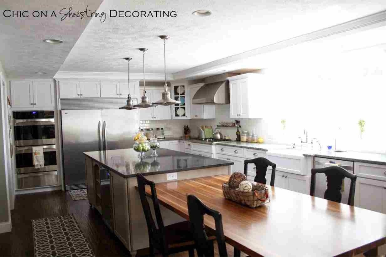 Kitchen Island With Attached Table Ideas Kitchen And