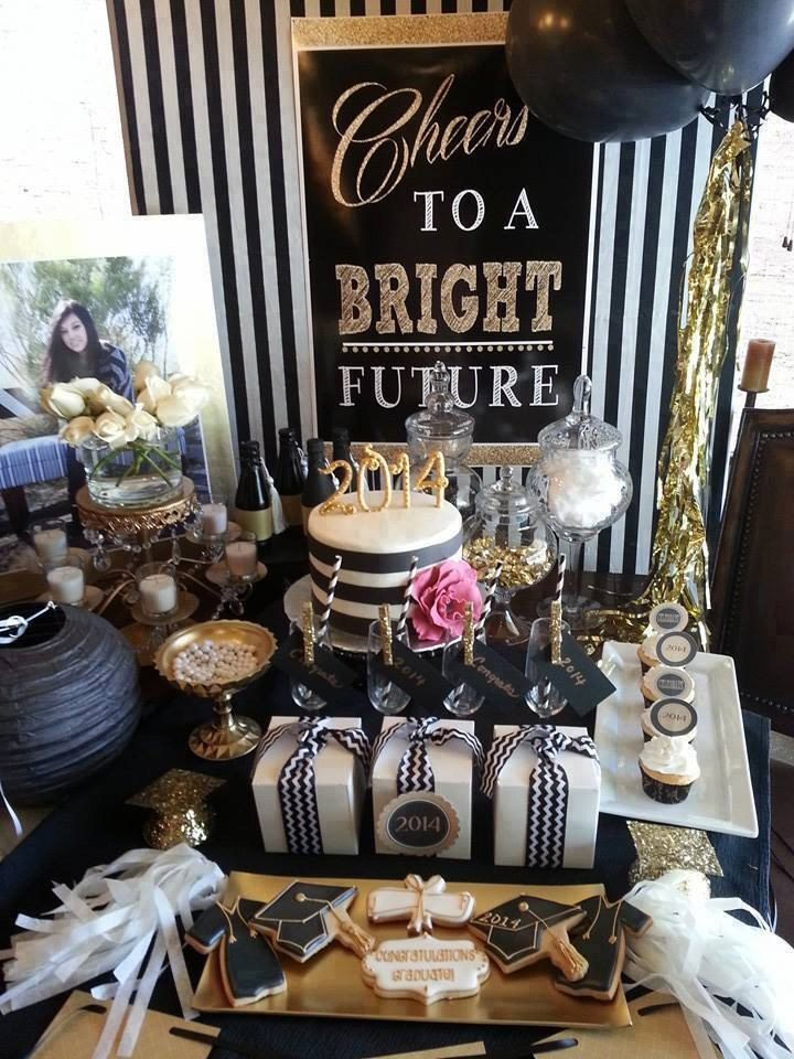 2016 Black And Gold Graduation Instant Party Pack Printable Print Trunk Ideas Collegegraduation
