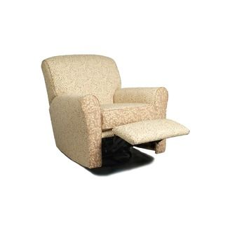 Aisley Reclining Glider White Leather Dining Chairs