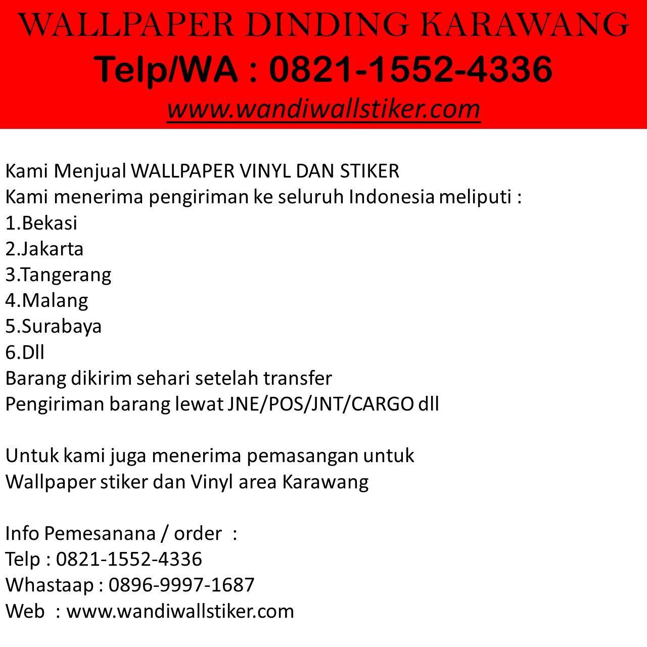 Ready Stock Telp Wa 0821 1552 4336 Simpati Agen Wallpaper Stiker Karawang Dinding Vinyl Kamar Anak