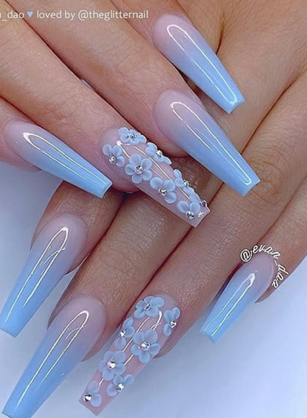 39 Chic Acrylic Gel Coffin Nails Design Ideas Page 36 Of 39 Latest Fashion Trends For Woman In 2020 Summer Acrylic Nails Cute Acrylic Nail Designs Coffin Nails Long