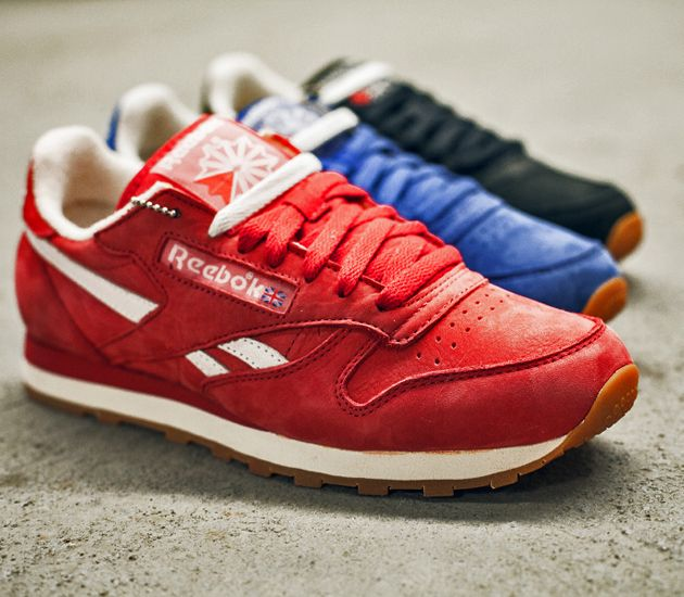 reebok classic leather vintage suede paint