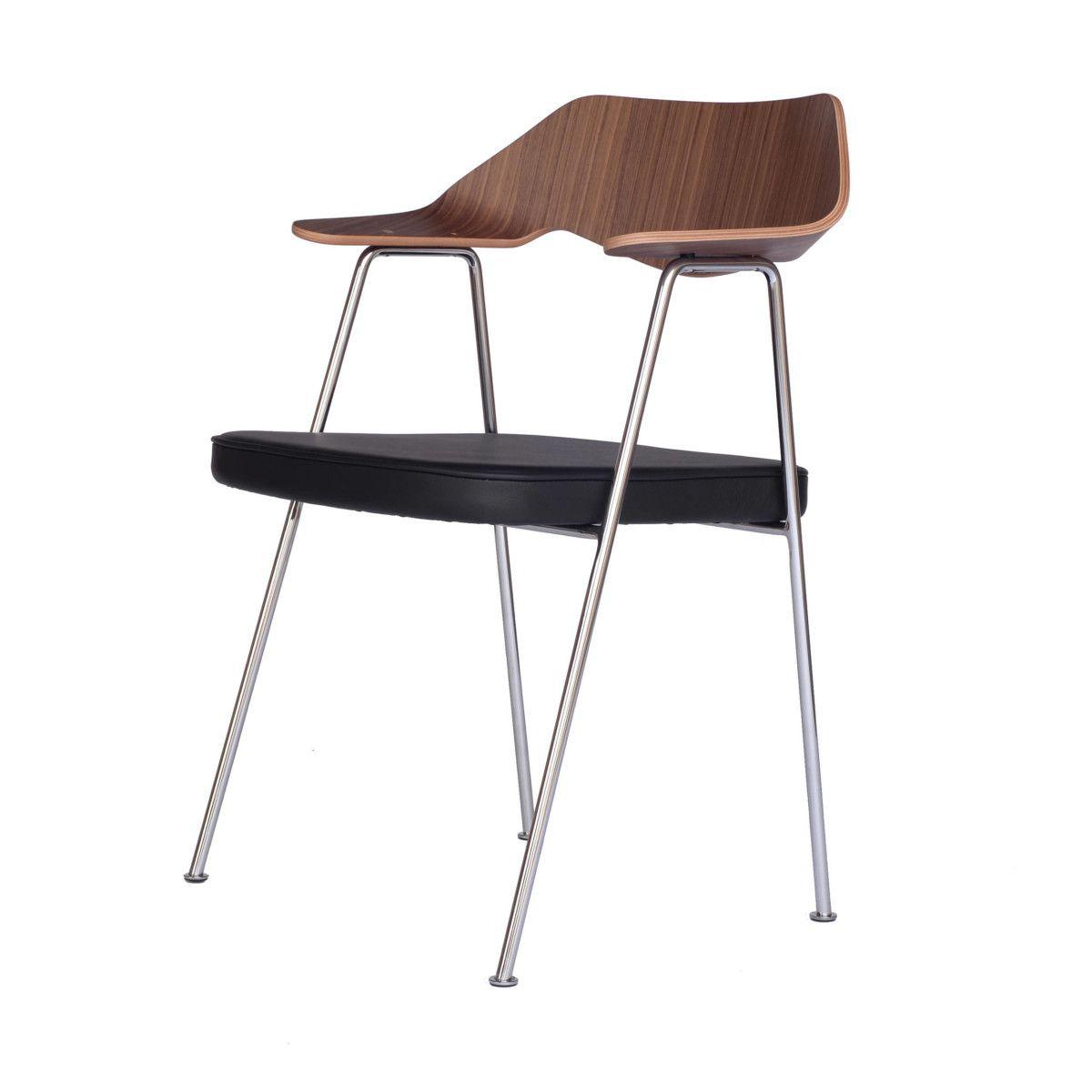 675 Chair Armlehnstuhl chrom-nussbaum Jetzt bestellen unter: https ...