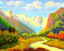 Картинки по запросу рисунки лето природы акриловыми ...