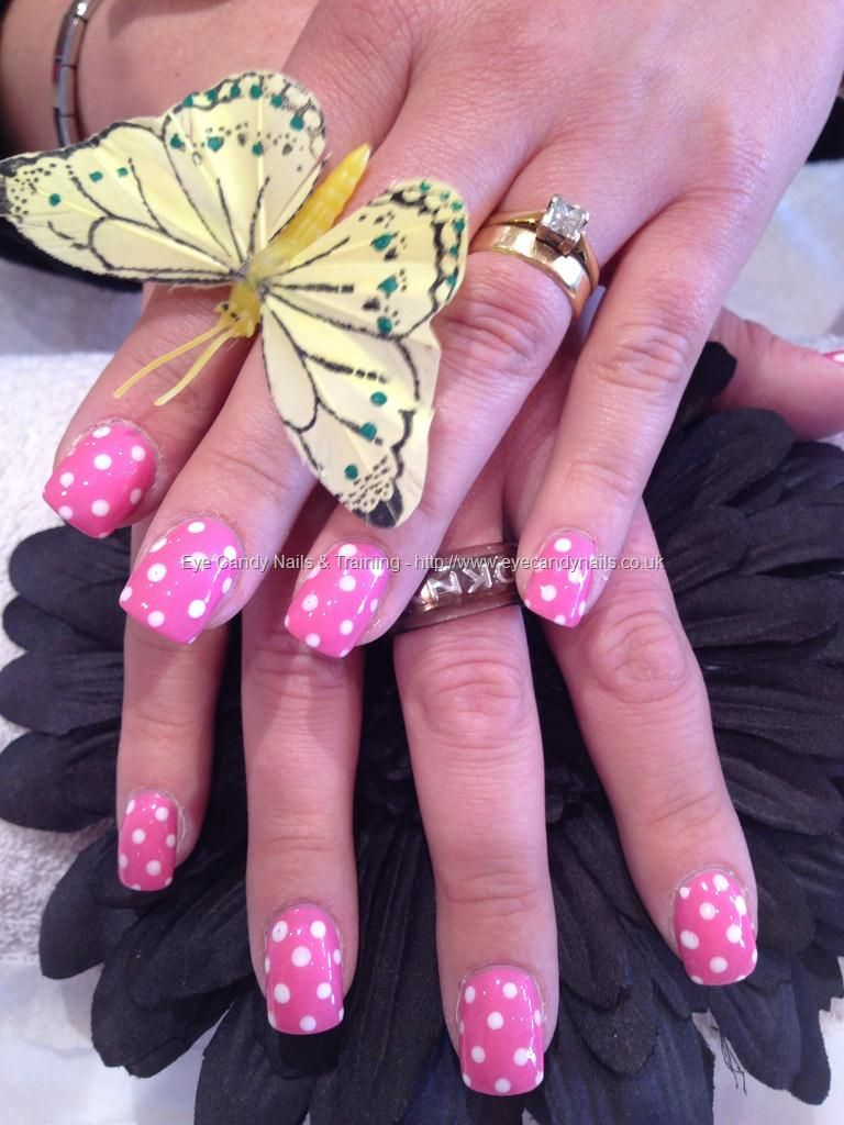 Pink Polka Dot Nail Art Nail Art Ideas Pinterest Dot Nail Art