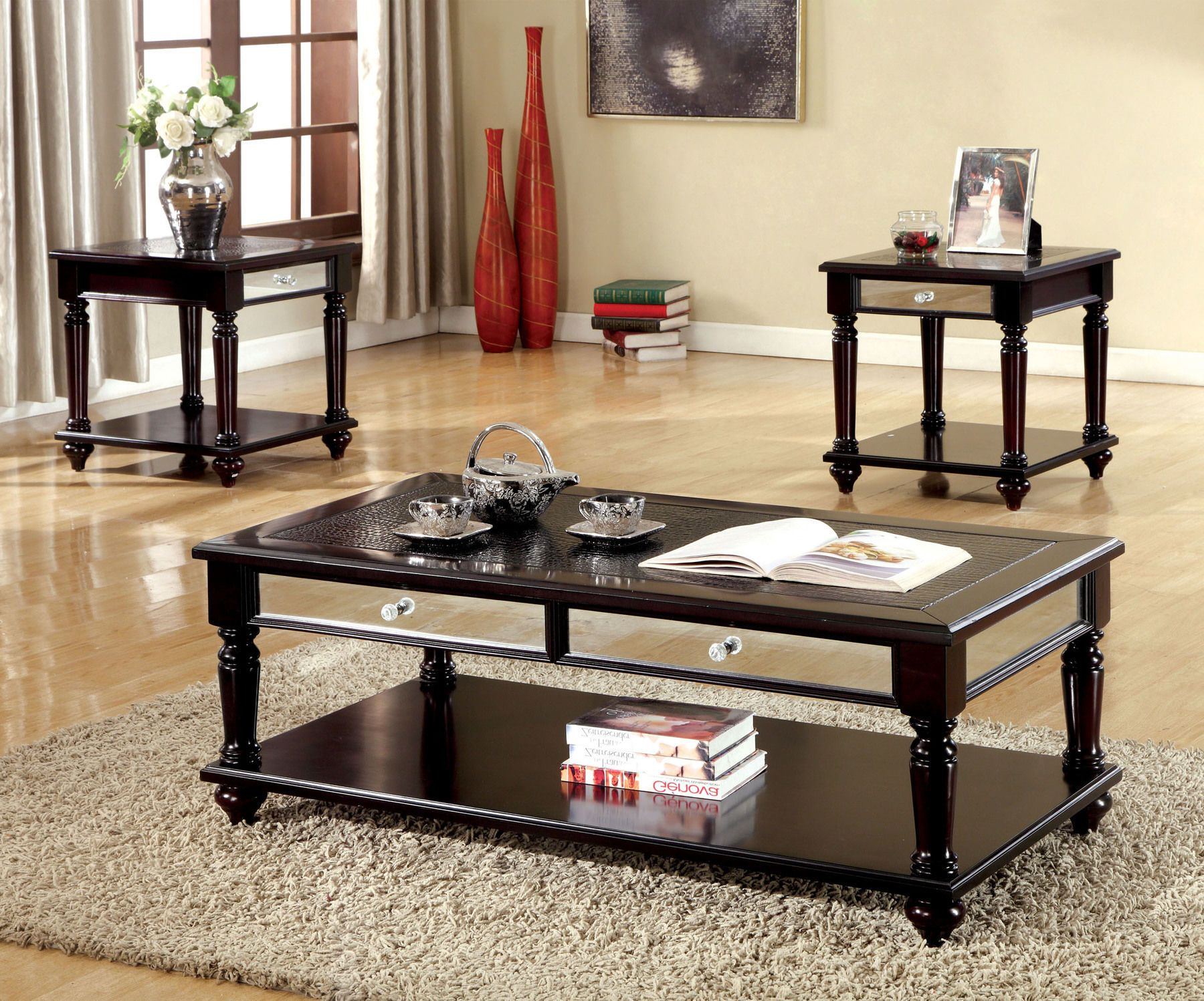 Horace Coffee Table 2 End Tables Cm4242 Furniture Of America Coffee Tables Coffee Table 3 Piece Coffee Table Set Coffee Table Setting [ 1498 x 1800 Pixel ]
