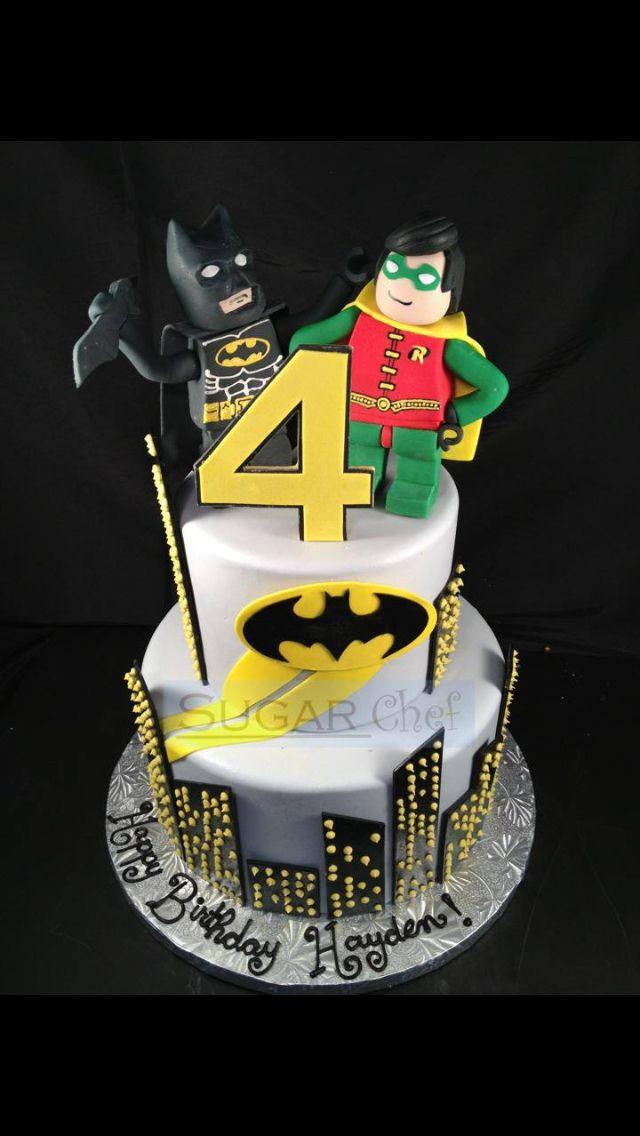 Lego Batman And Robin Birthday Cake Sugar Chef Cake Studio