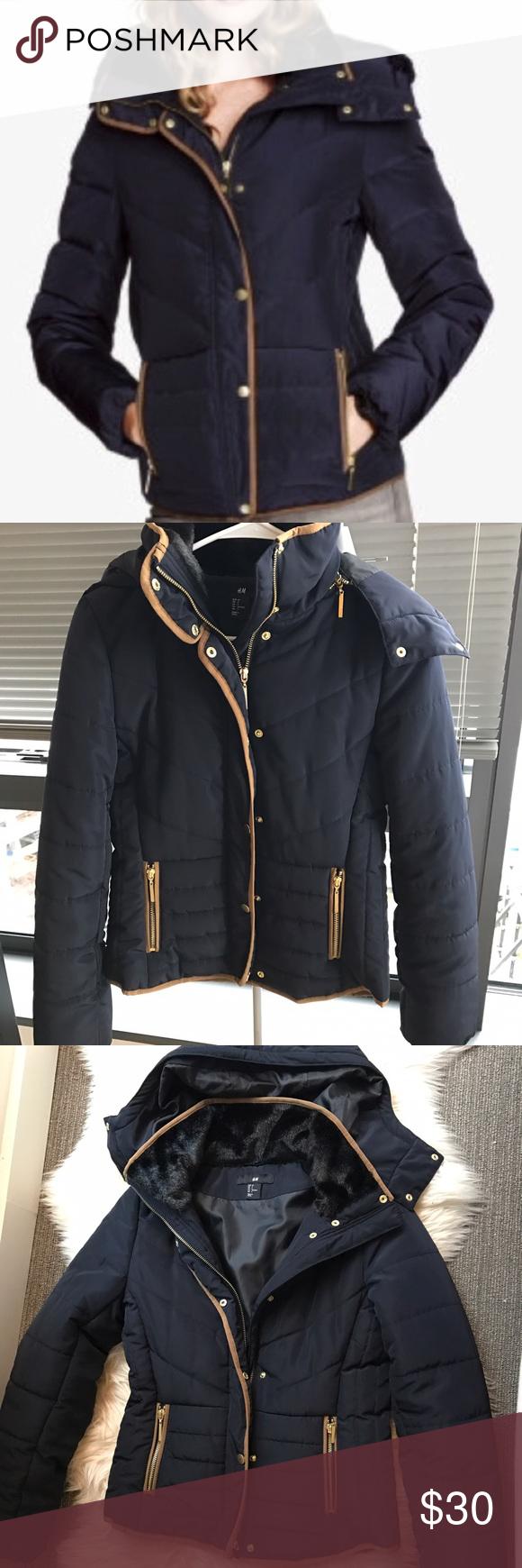 NWOT H&M puffer coat Puffer coat, Warm puffer jackets, H