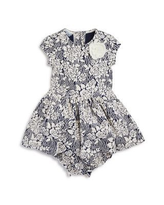Pippa & Julie Infant Girls' Floral Jacquard Knit Dress & Bloomer Set - Sizes 12-24 Months | Bloomingdale's