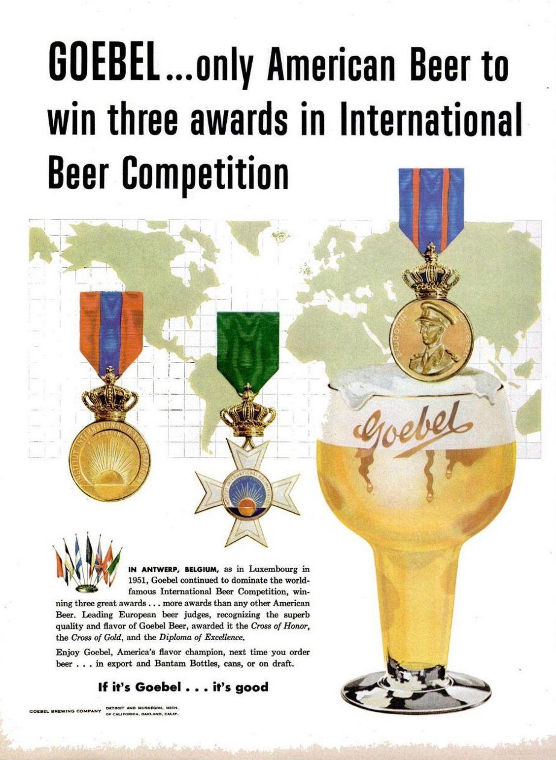 Goebel beer advert life april 3 1953 american beer