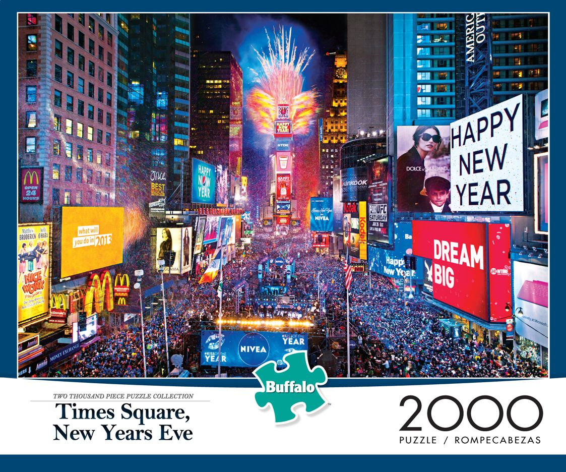 Times Square New Years Eve 2 000 Piece Buffalo Games Puzzle Our