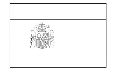 Flags Of The World Spain Flag Coloring Pages Coloring Pages Spain Flag