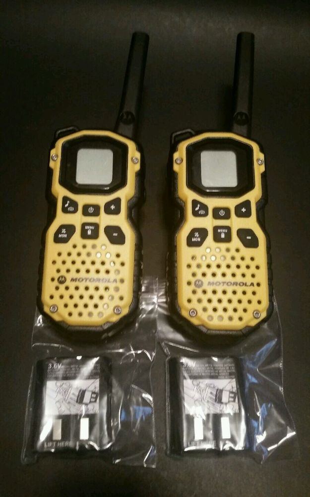 Motorola Talkabout Ms350r Waterproof Walkie Talkie Set Of 2 35 Mile Two Way Motorola Etsy