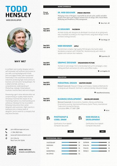 Checkered Column Resume Outline Job Application Creative Resume Templates