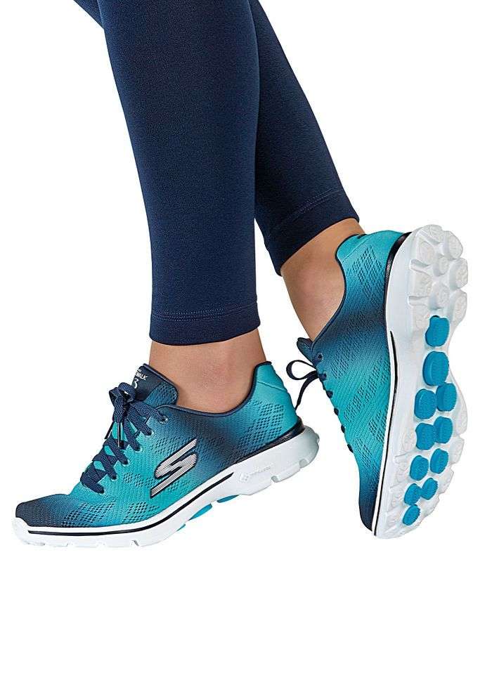 4a54227377f0 ... Skechers® GOwalk 3 Pulse sneaker has a Goga Mat® footbed that offers  high-rebound cushioning and GO Pillar™ technology for superior shock  absorption.