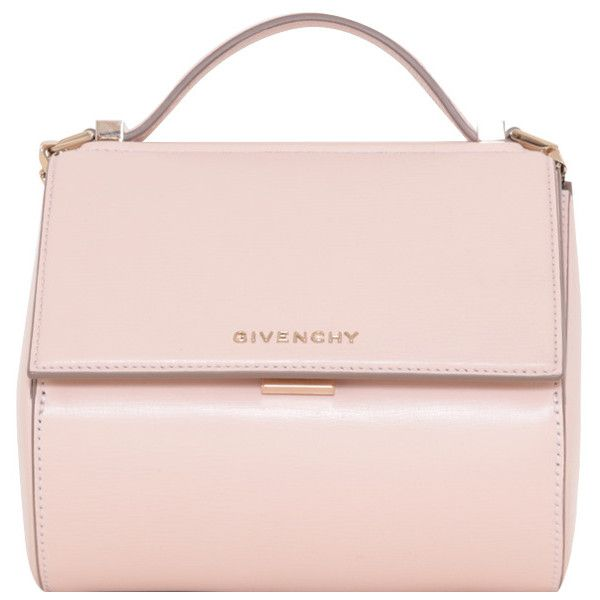 Givenchy Nude leather Pandora Box mini bag (128.115 RUB) ❤ liked on Polyvore featuring bags, handbags, shoulder bags, accessories, bolsas, purses, pink, pink leather handbags, hand bags and handbags shoulder bags