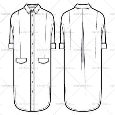 women 39 s shirt dress fashion flat template clothing patterns pinterest fashion fashion. Black Bedroom Furniture Sets. Home Design Ideas