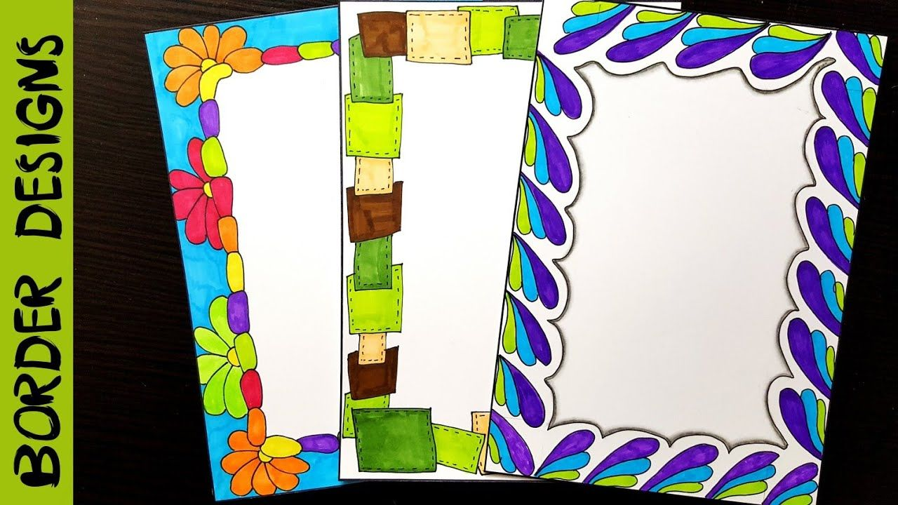 Easy border designs on paper project work also thanksgiving and halloween papers variety pack rh pinterest