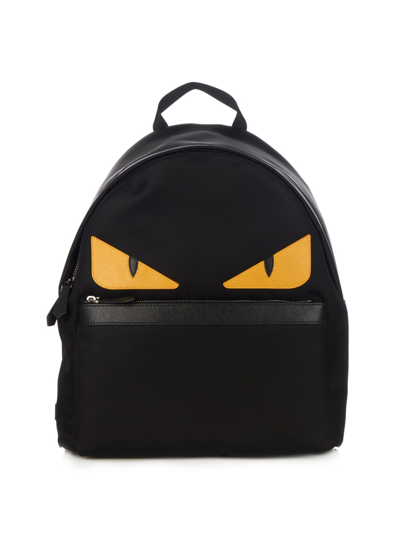 1371244806 Roll Monster Eyes nylon and leather backpack