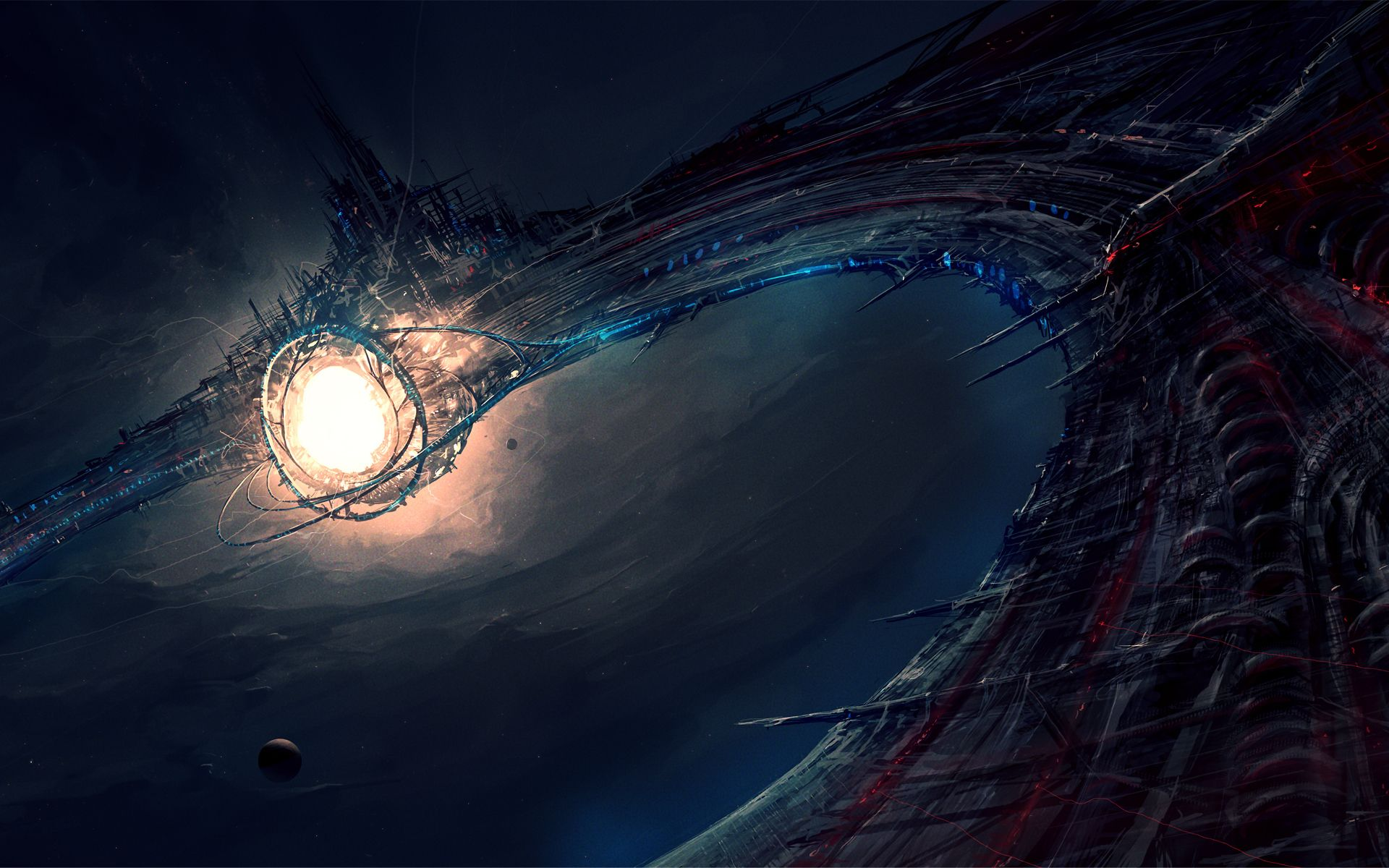 Wallpaper Vortex Of Energy In Deep Space Free Desktop Background