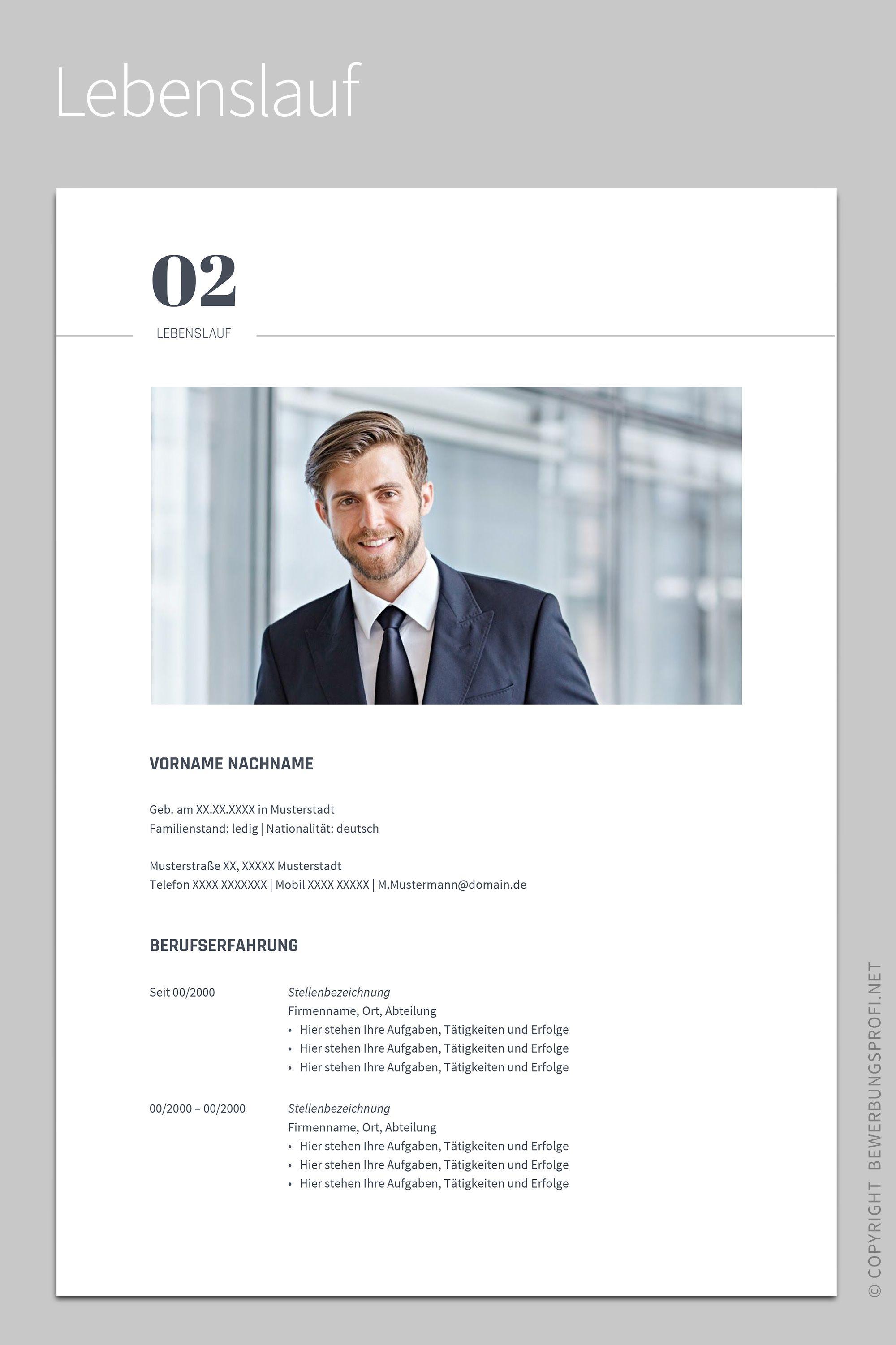 Lebenslauf Novus Design Vorlage Schlicht Lebenslauf Design