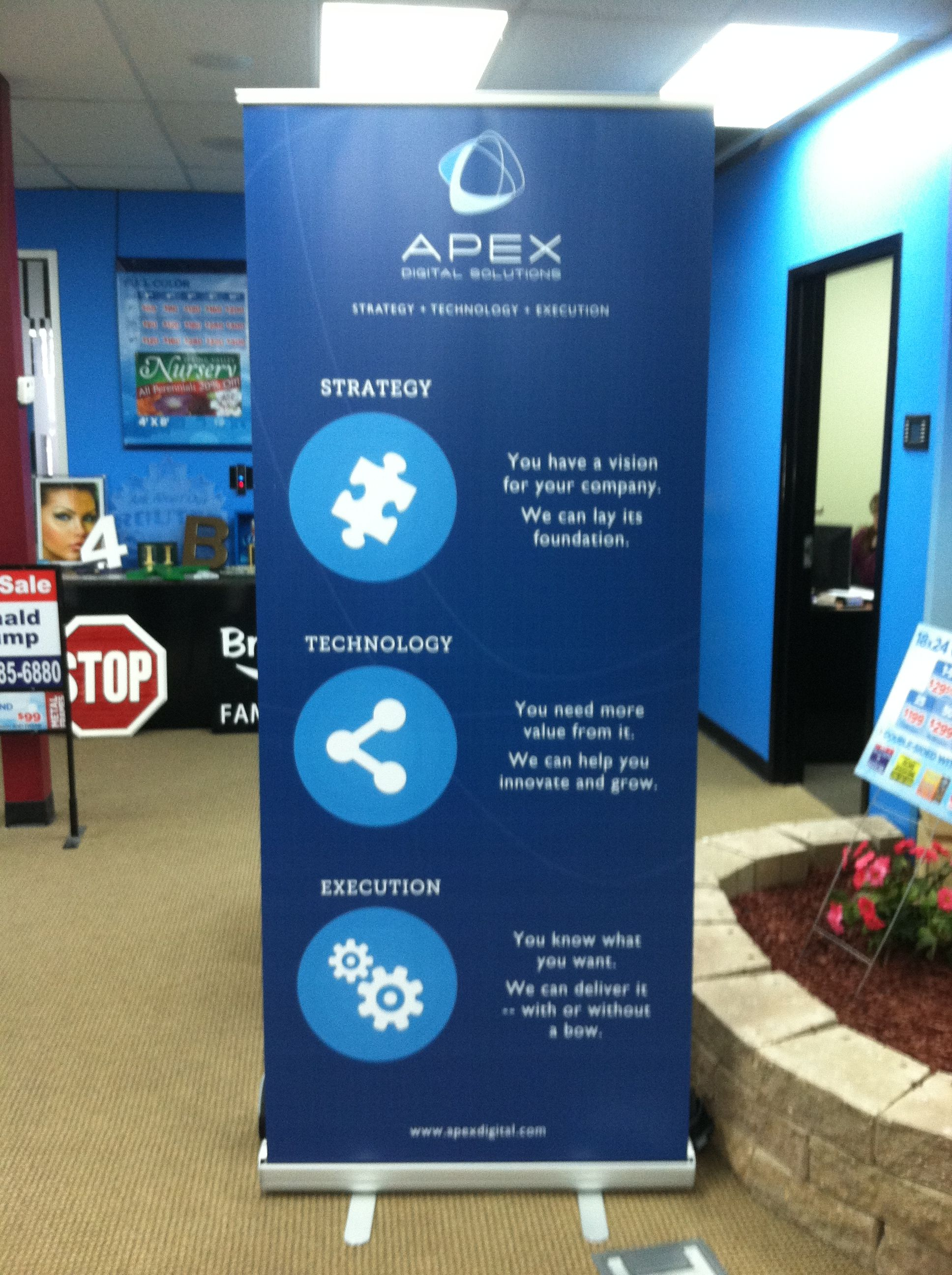 orient retractable banner stand wall  booth inspiration