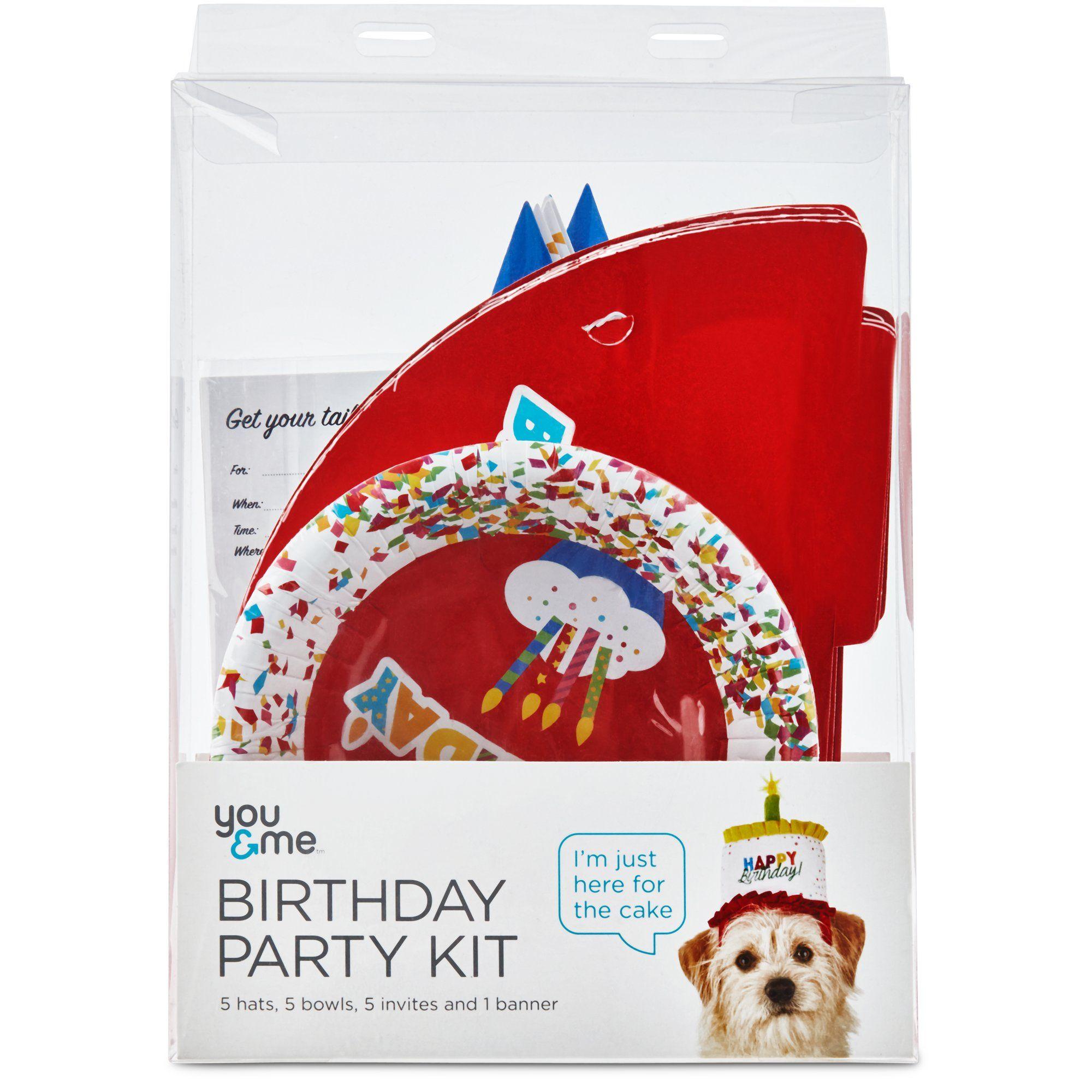 You Me Dog Birthday Party Kit Dog Birthday Party Birthday Party Kits Dog Birthday