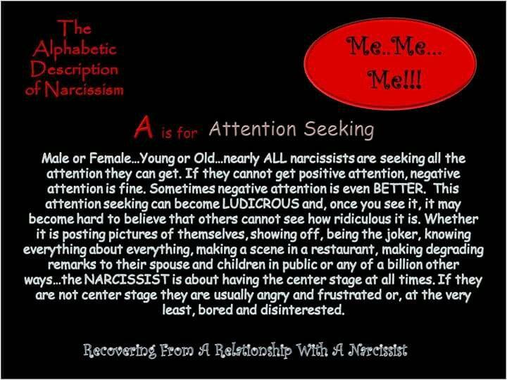 attention seeking behavior adults