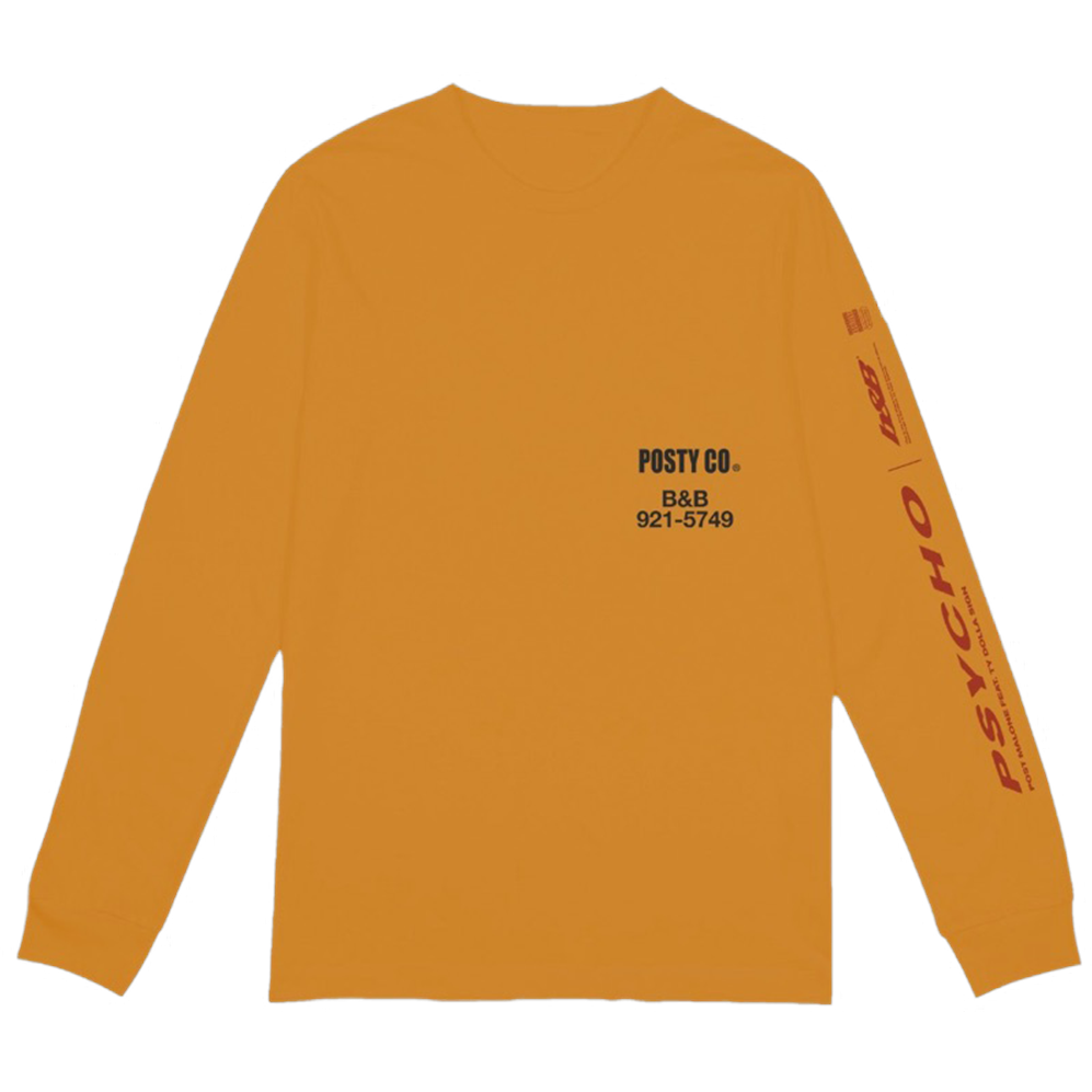 100% cotton long sleeve t-shirt. Printed details located on front chest,