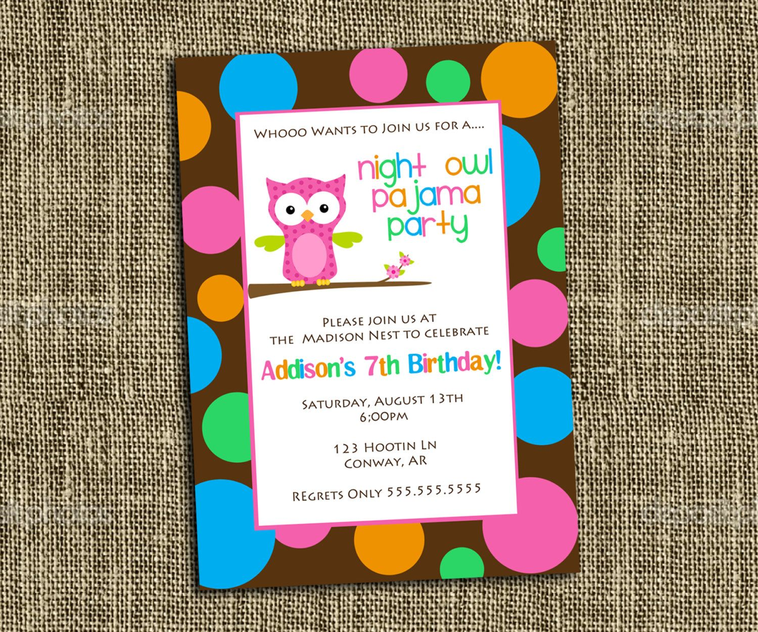 17 Best images about Birthday party ideas – Owl Party Invitations