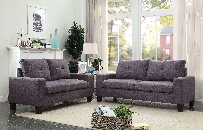 Best Acme Furniture Platinum Ii Chocolate 2Pc Living Room Set 400 x 300