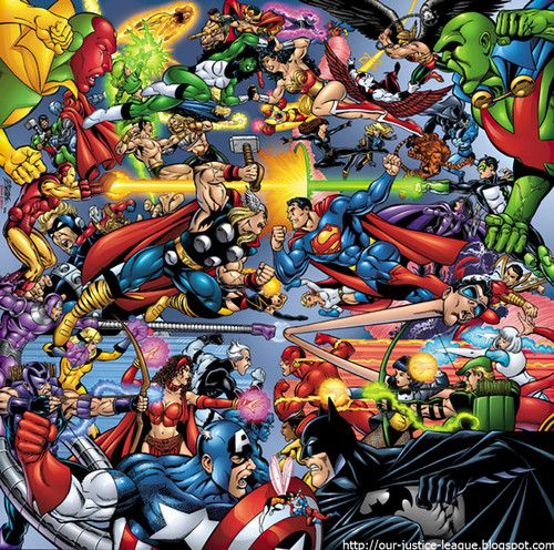 The Avengers Vs The Justice League Fan Art The Jla Vs The Avengers Dc Comics Vs Marvel Marvel And Dc Crossover Marvel Vs Dc