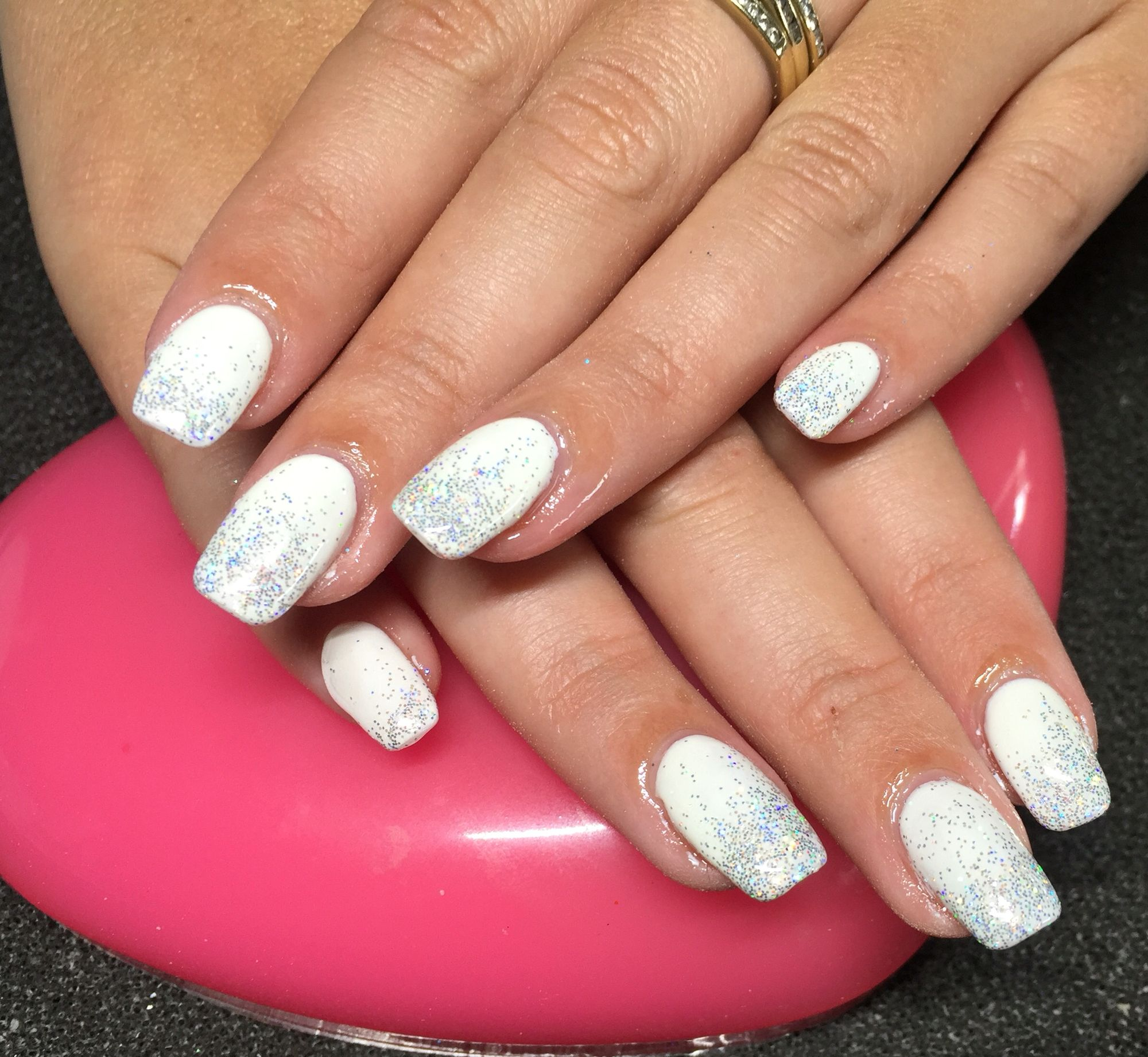 Silver AB (Holographic) | Sparkly nails, Stiletto nail art