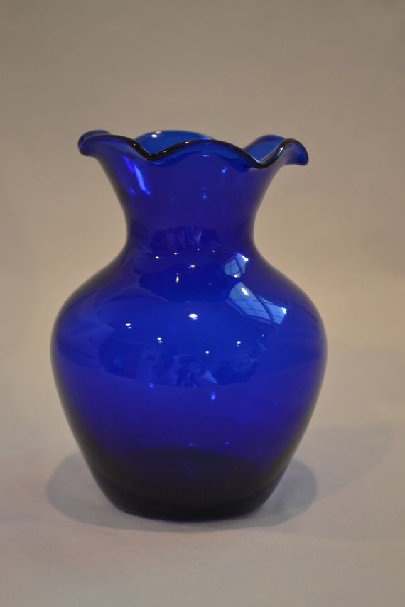 Vintage Cobalt Blue Glass Vase Cobalt Blue Glass Pinterest