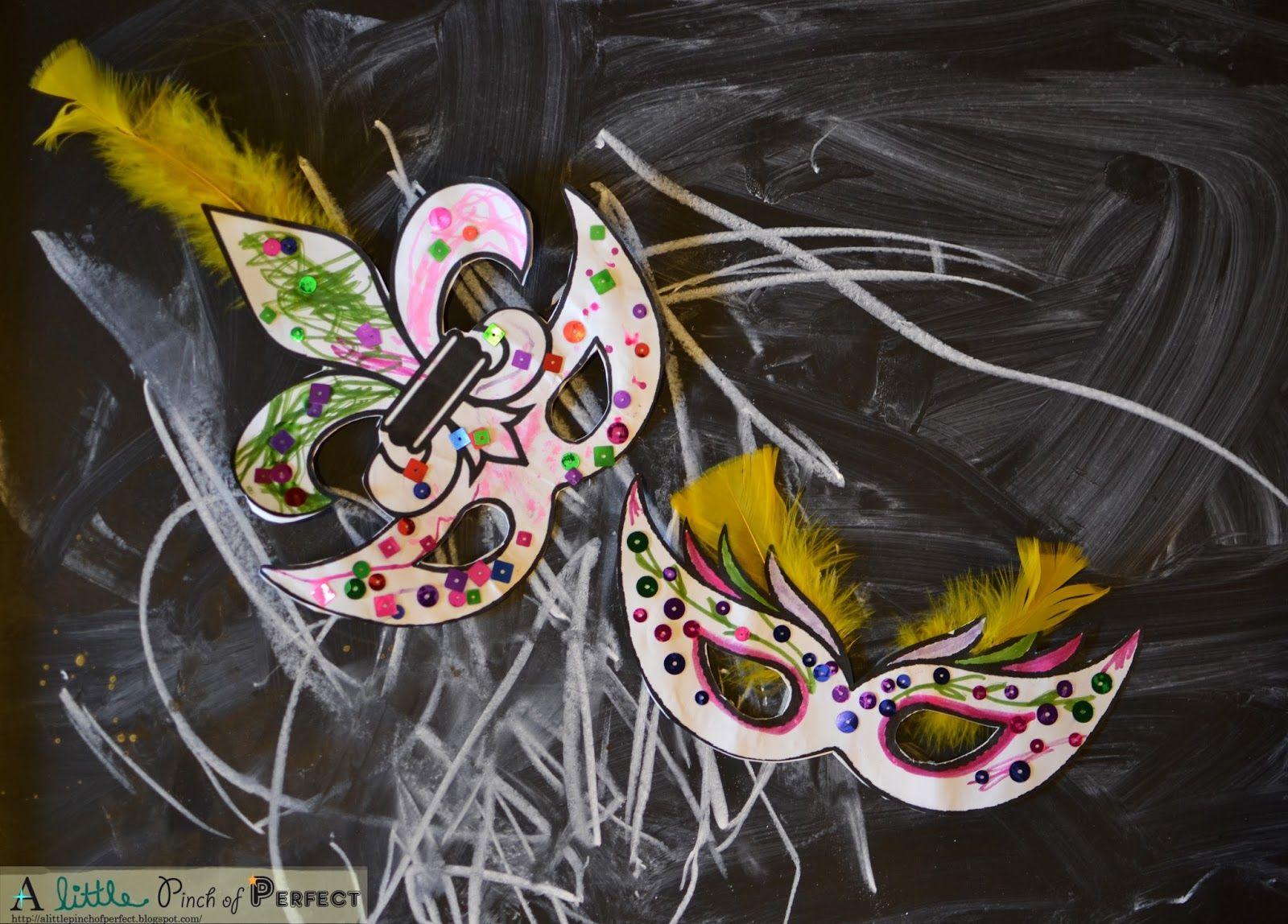 Mardi Gras Masks Kids Activity Free Printable