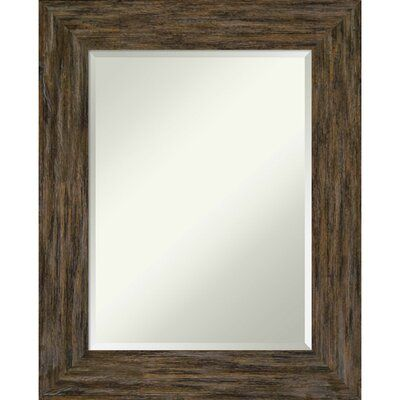 Amanti Art Fencepost Rustic Beveled Bathroom / Vanity Mirror | Perigold