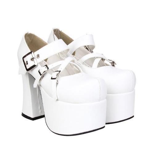 8ab52942916a Japanese Fashion Buckles Punk Lolita High-Heels Shoes SD00217