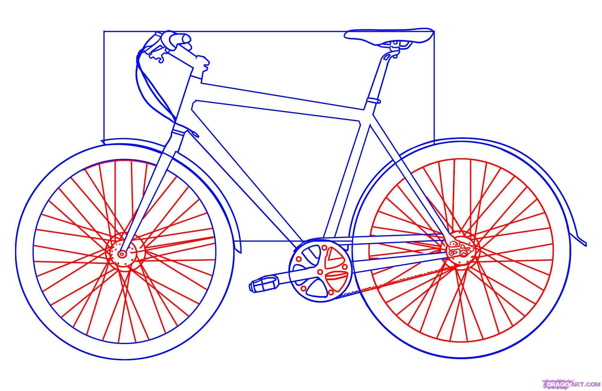 How To Draw A Bicycle By Dawn Fahrrad Zeichnung Fahrrad Kunst