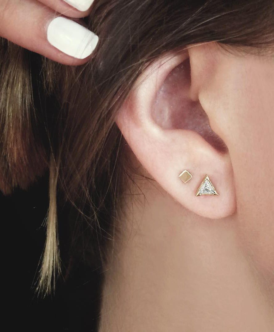 Double piercing ideas  Vrai u Oro  Cool Things To Get Back To  Pinterest  Double piercing