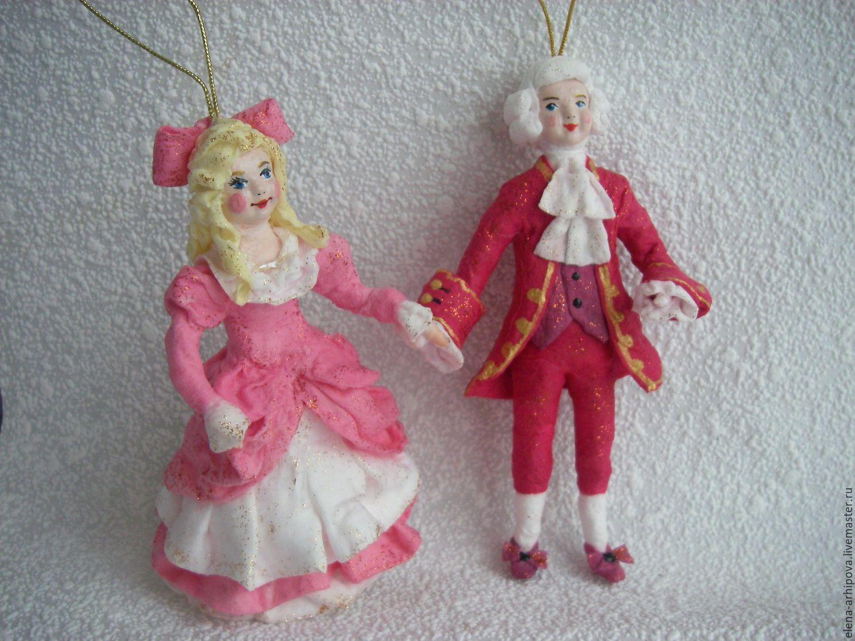 """Купить Ёлочные игрушки из ваты - герои сказки """"Щелкунчик ..."""