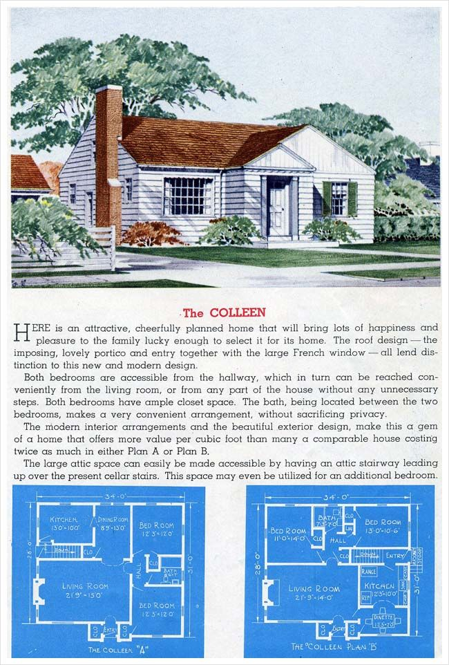 1945 Sterling Homes The Colleen Sterling Homes Vintage House