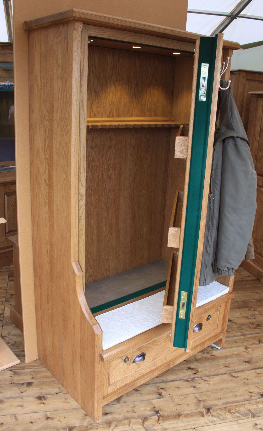 Bench Seat Gun Cabinet Gun Cabinets Pinterest Bench