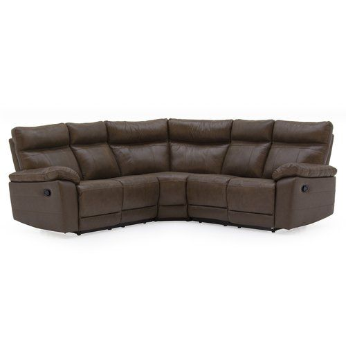 17 Stories Paineville Leather Reclining Corner Sofa Corner Sofa Corner Sofa Design Leather Corner Sofa