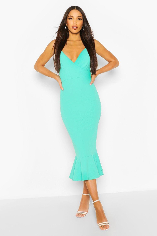 Women S Tall Peplum Hem Midi Dress Boohoo Uk Midi Dress Bodycon Dresses Midi Dress [ 1500 x 1000 Pixel ]