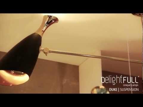Black and gold mobile suspension lamp  Suspension Lamp Duke - Delightfull | Unique Lamps Unique vintage,  Retro lamps, Jazz Design www.delightfull.eu