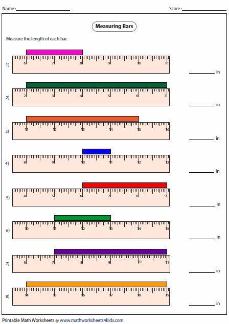 measuring length of the bar measurement math measurement math y math worksheets. Black Bedroom Furniture Sets. Home Design Ideas
