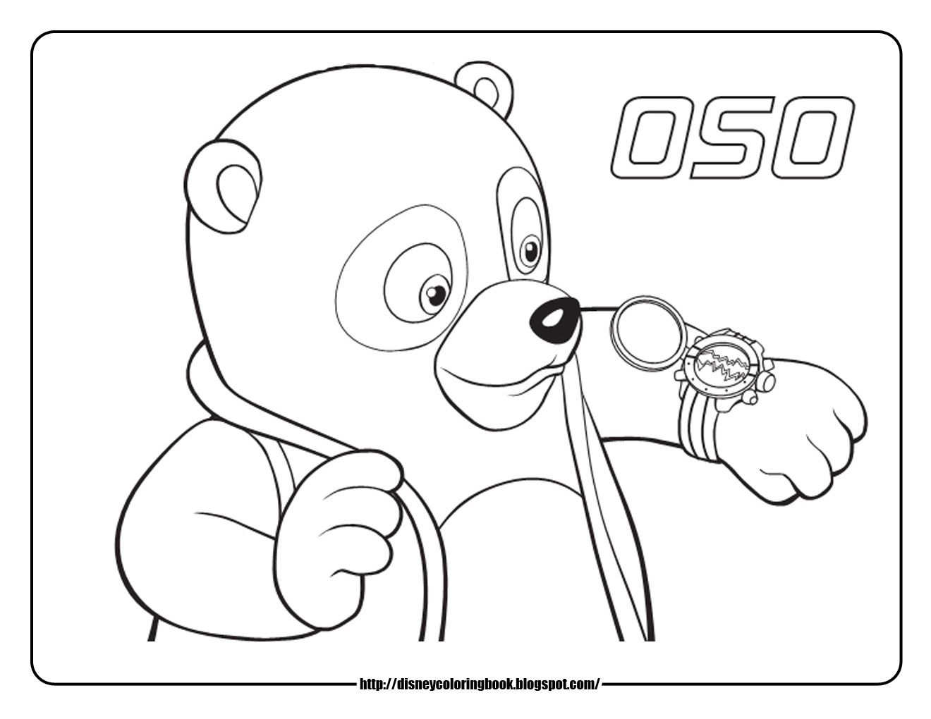 Disney Junior Coloring Pages  Special Agent Oso 18: Free Disney
