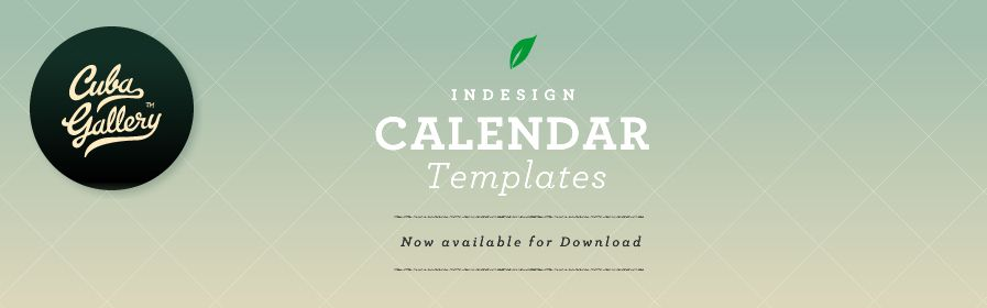 Indesign Calendar Template  TomuCo