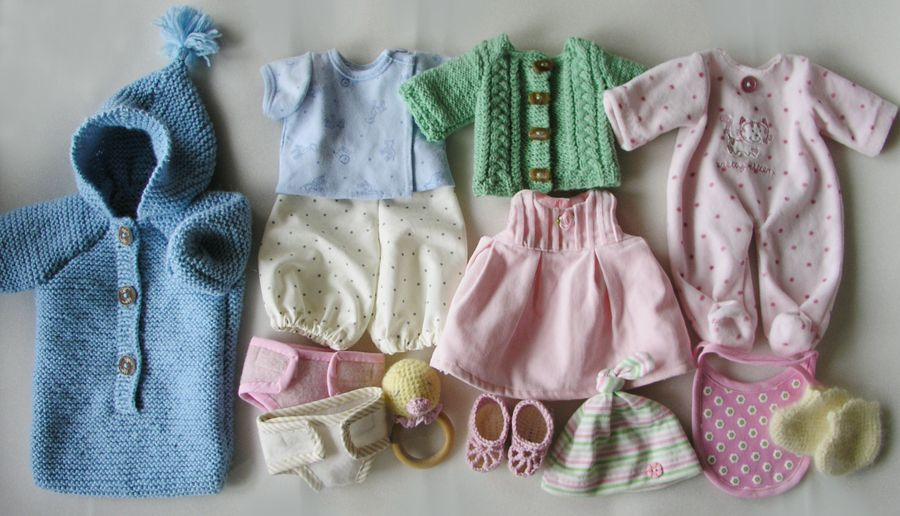 Baby doll clothing set which comes with baby doll designed by Lalka Szmaciana
